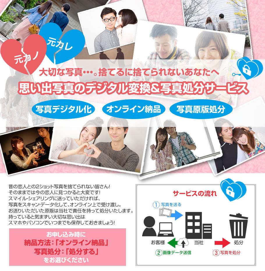 元カノ・元カレ過去の思い出写真デジタル化&写真処分サービス
